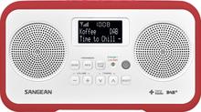 Bordradio Sangean TRAVELLER 770 DAB+, DAB, FM Tastespærre Rød