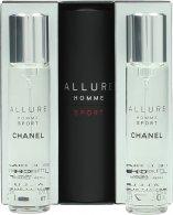 Chanel Allure Homme Sport Lahjasetti 20ml EDT Suihke + 2 x Täyttöpakkausta