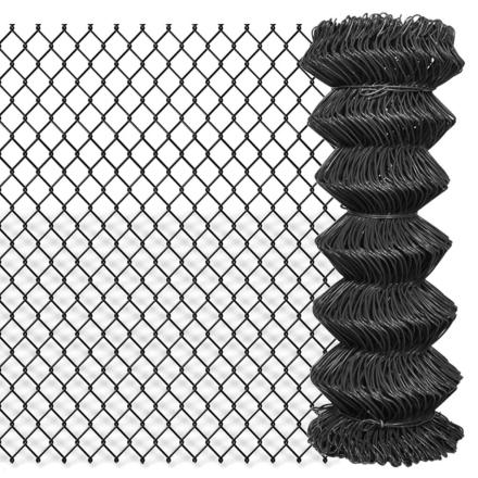 vidaXL ståltrådshegn 15 x 1 m stål grå