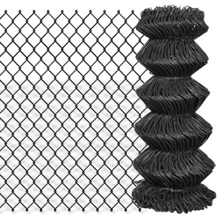vidaXL ståltrådshegn 25 x 0,8 m stål grå
