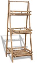 vidaXL foldbart plantestativ i 3 niveauer i bambus