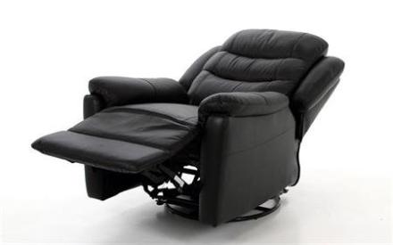 Rensoe lænestol med recliner i sort læder - PRISFALD