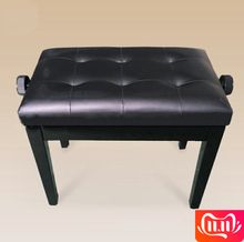 High quality solid wood piano bench single lift without box leather piano stool