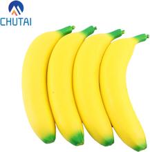 Cute Banana Squishy Super Slow Rising Jumbo Simulation Fruit Phone Straps Soft Cream Scented Bread Cake Kid Toy Gift 19*4CM