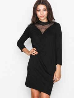 Vero Moda Vmviva Lace V-Neck 3/4 Short Dress