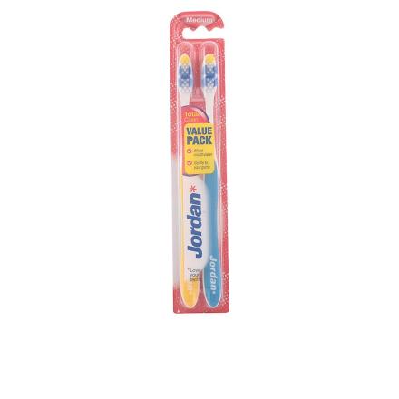 Jordan totalt ren Cepillo Dental Medio 2 enheter Unisex forseglet boks