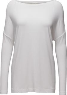 Alloi Langærmet T-shirt Hvid By Malene Birger