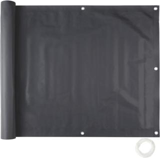 Balkongskydd, variant 1 90 cm svart