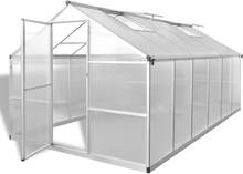 vidaXL Vahvistettu alumiininen kasvihuone pohjarungolla 9,025 m²