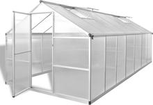 vidaXL Växthus 10,53 m² förstärkt aluminium