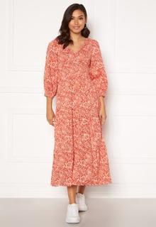 Y.A.S Damask 3/4 Long Dress Wisper Pink, AOP S