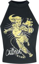 Wonder Woman - 1984 - Cheetah -Halterneck-topper - svart