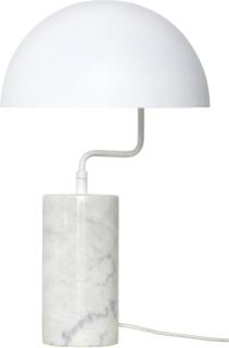 Hübsch bordlampe - hvid marmor