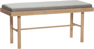 Hübsch Bænk med siddepude - natur/grå