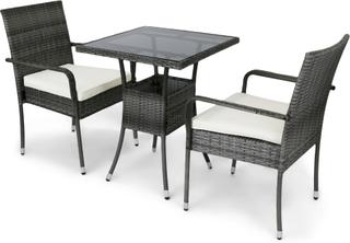 Caféset utemöbler för balkong i konstrotting