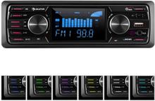 """MD-350BT bilradio Deckless BT USB SD MP3 4x45Wmax. 3""""LCD AUX Fjärrkontroll"""