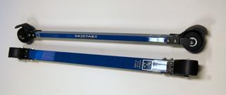 Skistart Silver classic - Aluminium Rullskidor Paket, Rullskida bindning och rullskidstav