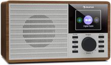 "DR-160 BT DAB+/FM radio USB AUX 2.4"" TFT-display trä"