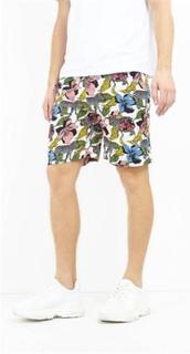 Brave Soul Psychedelic Zebra Print Shorts för herrar