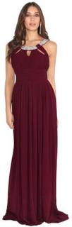 Krisp Dam / Hals Chiffong Maxi klänning för damer / damer