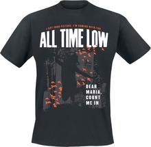 All Time Low - Dear Maria Throwback -T-skjorte - svart