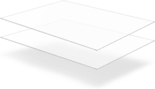 vidaXL Plexiglasskivor 2 st klara 60x80 cm 6 mm