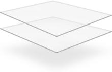 vidaXL Plexiglasskivor 2 st 40x60 cm 10 mm