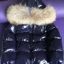 Children Winter Down Jacket Real Fur Collar Toddler Clothing Kids Warm Outerwear For Baby Boys Girls 85-145CM Snow Coat CYF145