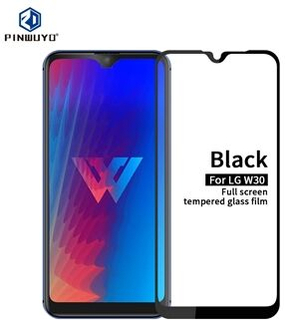 PINWUYO Full Size 2.5D 9H Tempered Glass Screen Guard Film Anti-explosion Glass Screen Protector for LG W30