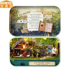Handmade Furniture Doll House DIY miniature doll house 3D Wooden Dollhouse miniatures Toys for Christmas and birthday gift v4