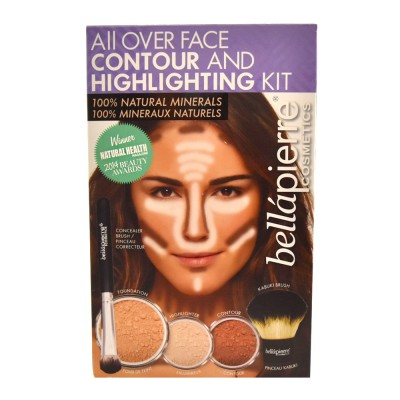 Bellápierre Cosmetics All Over Face Contour & Highlighting Kit Medium 5 kpl