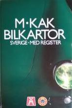 M. KAK Bilatlas Sverige med register