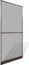 vidaXL Ruskea Saranoitu Hyönteisverho Oveen 100 x 215 cm