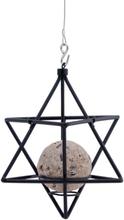 Wildlife Garden - Suet Ball Feeder Star, Black