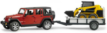 Jeep Wrangler w. Trailer and Cat