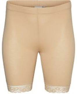 JUNAROSE Slim Shorts Kvinder Beige