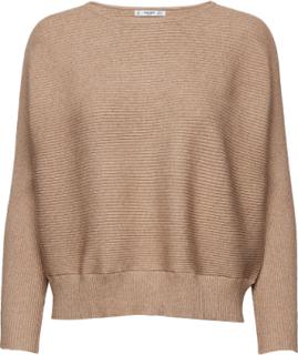 Ribbed Knit Sweater Strikket Trøje Beige MANGO