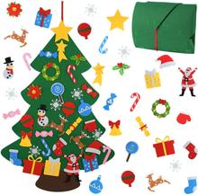 Kids DIY Felt Christmas Tree Christmas Decoration for Home Navidad 2021 New Year Gifts Christmas Ornaments Santa Claus Xmas Tree