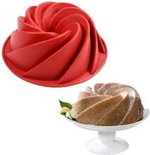 Silicone Baking Molds,European Grade Fluted Round Cake Pan,Non-Stick Cake Pan for Jello,9.0 Inches Tube Bakeware