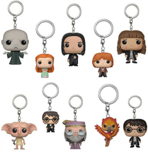 Dumbledore Dobby Hermione Voldemort Snape Ron Ginny Hedwig Vinyl Keychain Action Figure Collection Toys