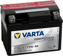 Varta Motorcykelbatteri Powersports AGM YT4L-4 / YT4L-BS