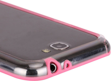 Transparent Compound Bumper (Rosa) Samsung Galaxy Note 2 Bumper