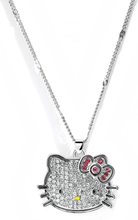 2021 New Silver Color Korea Crystal Cute hello kitty Cat Necklaces Pendants Fashion Jewelry for women