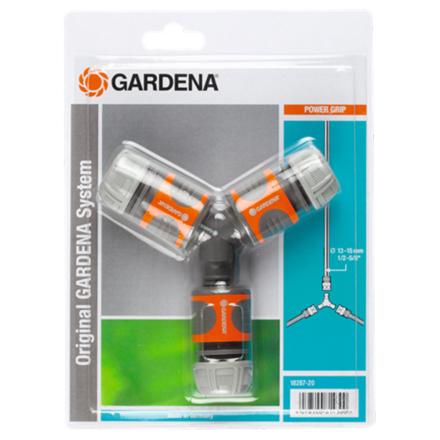 GARDENA tovejs sammenkoblingssæt til haveslange orange og grå 18287-20