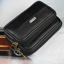 Fashion Men Fanny Pack Mobile Phone Male Zipper Coin Purse PU Leather Good Quality Bag Casual Waist Packs Money ID Bags Purses