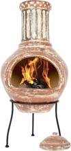 LA HACIENDA Calido Large Mexico ovn - rødt ler og stål, håndlavet, rund (Ø38)