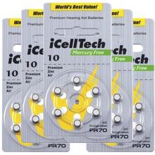 iCellTech iCellTech PR70/ZA10/DA10/V10 5-p Hörapparatsbatteri 52731663-5 Replace: N/AiCellTech iCellTech PR70/ZA10/DA10/V10 5-p Hörapparatsbatteri