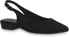 Tamaris Spetsiga ballerinaskor med slingback, svart