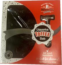 Walkers Toffee Liquorice Slab Toffee - Lakris med Hammer 400 gram