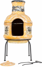 LA HACIENDA Circles Small Mexico ovn m. grill - gult/brunt ler og stål, rund (Ø36)